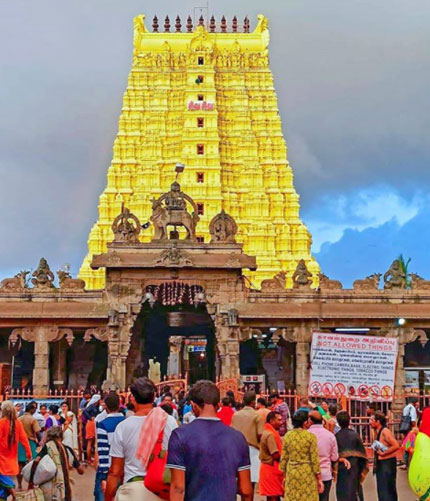 Ramanathaswamy Temple is a Hindu temple dedicated to the Lord Shiva situated on Rameswaram Island.