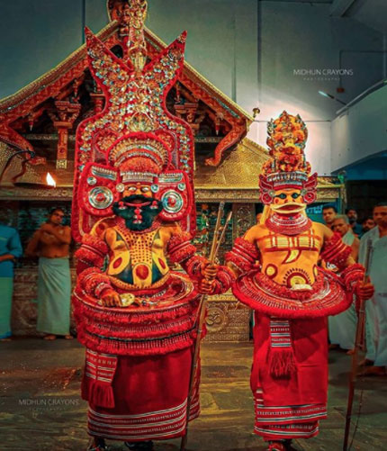 Parassinikadavu Muthappan Temple, located at the banks of the Valapattanam River in Kannur district