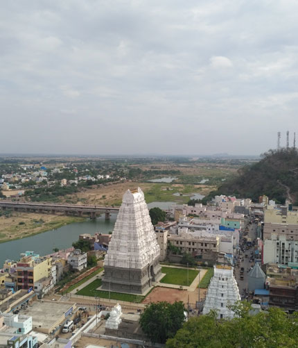 Srikalahasti Temple, one of the most famous Shiva temples in South India.